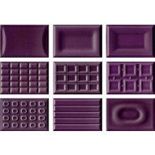 IMOLA CENTO PER CENTO dekor 12x18cm violet, CACAO VA