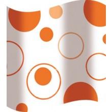 AWD INTERIOR sprchový závěs 180x180cm, s oranžovými kruhy