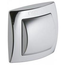 GEBERIT ovládání splachování WC 10,8x10,8cm, ruční/pneumatické, chrom lesk/mat 115.941.KA.1