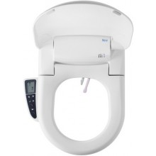 Sedátko WC Roca duraplastové Multiclin Advance Round Softclose s funkcí bidetu  bílá