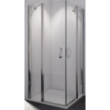 SANSWISS SWING LINE SLE2G sprchové dveře 1000x1950mm levé, dvoudílné, křídlové, aluchrom/sklo Durlux