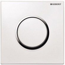 GEBERIT SIGMA 10 ovládání splachování pisoárů 13x13cm, pneumatické, ruční, bílá/pochromovaná matná/pochromovaná matná