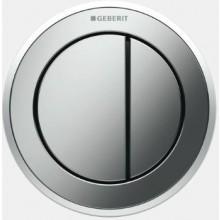 GEBERIT TYP 10 oddálené ovládání 9,4cm, pneumatické, podomítkové, pochromovaná lesklá/pochromovaná matná/pochromovaná lesklá