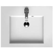 RIHO BRONI umyvadlo 60x48x2cm, 1x otvor na baterii, litý mramor, bílá