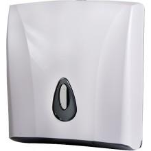 SANELA SLDN03 zásobník na skládané papírové ručníky 260x130x300mm, plast ABS, bílá