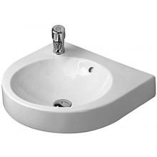 Umyvadlo klasické Duravit s otvorem Carohranaté 70x50,5 cm bílá+wondergliss