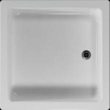 Vanička plastová Teiko čtverec - 80x80x15cm bílá