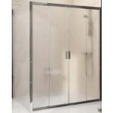 RAVAK BLIX BLDP4 130 sprchové dveře 1300x1900mm, čtyřdílné, posuvné, alubright/grape