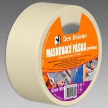 DEN BRAVEN OPTIMAL maskovací páska 50mmx50m, světle žlutá