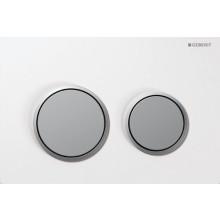 GEBERIT OMEGA 20 ovládací tlačítko 21,2x14,2cm, bílá/chrom mat 115.085.KL.1
