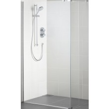 Zástěna sprchová Ideal Standard sklo Synergy Wetroom 140x202,5cm Silver Bright/Transparente+IC