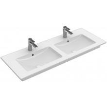 VILLEROY & BOCH VERITY LINE nábytkové dvojumyvadlo 1300x500mm, s otvorem a přepadem, bílá Alpin Ceramicplus