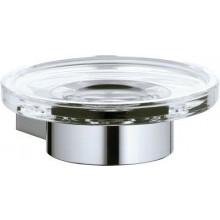 KEUCO PLAN držák s mýdlenkou Ø111mm, sklo/chrom