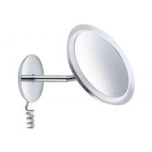 Doplněk zrcadlo Keuco Bella Vista kosmetické s podsvícením průměr 218 mm chrom