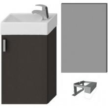 Nábytek skříňka s umývátkem Jika Petit se zrcadlem a osvětlením 40 cm šedá