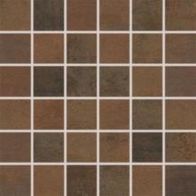RAKO RUSH mozaika 30x30cm, lepená na síťce, tmavě hnědá