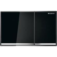 GEBERIT OMEGA 60 ovládací tlačítko 18,4x11,4cm, černé sklo 115.081.SJ.1
