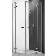 ROLTECHNIK ELEGANT LINE GR2/800 sprchový kout 800x2000mm čtvrtkruhový, s dvoukřídlými otevíracími dveřmi, panty a madla, brillant/transparent