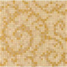 VERSACE VANITAS FOGLIA mozaika 39,4x39,4 cm, oro/noce/gold