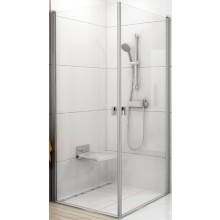 RAVAK CHROME CRV1 100 sprchový kout 980-1000x1950mm rohový satin/transparent 1QVA0U01Z1