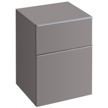 KERAMAG ICON skříňka 45x60cm, postranní, závěsná, platinová lesklá 840047000