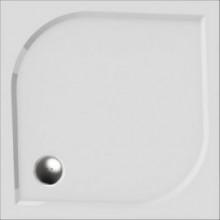 Vanička drcený mramor Teiko čtverec Draco 80 litá, vč.noh 80x80x3cm bílá