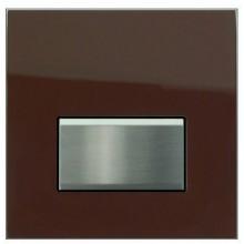 GEBERIT ovládání splachování pisoárů Sigma 50, 13x13cm, pneumatické ruční, sklo hnědé 116.016.SQ.5
