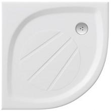 RAVAK ELIPSO PRO 80 sprchová vanička 800x800mm z litého mramoru, extra plochá, čtvrtkruhová , bílá XA234401010