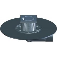 HL vpust DN 50/75 podlahová, s kloubem, s asfaltovou manžetou, polypropylen/polyetylen/nerez