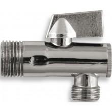"""EASY rohový ventil 1/2""""x3/8"""", s filtrem a kovovou pákou, chrom"""