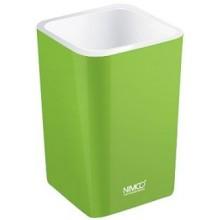NIMCO ELI pohárek na kartáčky 75x75x112mm zelená EL 3058-70