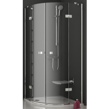RAVAK SMARTLINE SMSKK4 90 sprchový kout 900x900x1900mm čtvrtkruhový, čtyřdílný, chrom/transparent