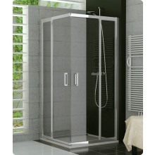 Zástěna sprchová dveře Ronal sklo TOP-line 900x1900 mm matný elox/čiré AQ