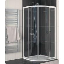Zástěna sprchová čtvrtkruh Ronal sklo ECO-line 800x1900 mm R500 aluchrom/čiré AQ