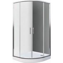 EASY ELR2 900 B sprchový kout 900x1900mm R550 čtvrtkruh, s dvoudílnými posuvnými dveřmi, bílá/transparent
