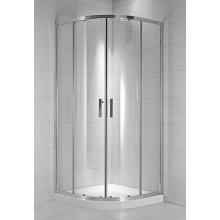 Zástěna sprchová čtvrtkruh Jika sklo Cubito pure 80 x195 cm arctic