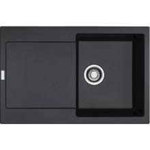 FRANKE MARIS MRG 611 dřez 780x500mm s odkapávačem, Fragranit DuraKleen Plus/onyx