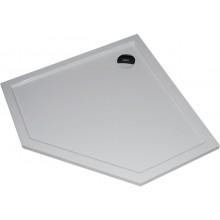 HÜPPE PURANO vanička 900x900mm, 5-úhelník, litý mramor, bílá