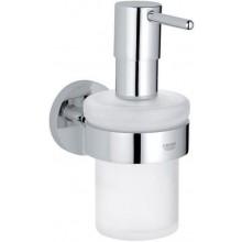 GROHE ESSENTIALS dávkovač mýdla 72mm, s držákem, sklo/chrom
