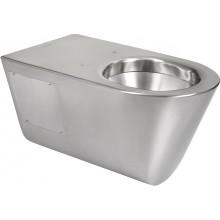 SANELA SLWN11 WC 359x700x362mm, závěsné, pro tělesně handicapované, bez sedátka, antivandal, nerez mat