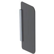 GEBERIT dělící stěna pro pisoáry 43,2x4x75,4cm, černá