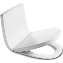 ROCA KHROMA klozetové sedátko s poklopem, Slowclose, s antibakteriální úpravou, Ice White 7801652004