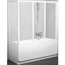 Zástěna vanová dveře Ravak sklo APSV 75 cm bílá/grape