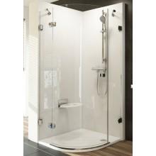 RAVAK BRILLIANT BSKK3 90 sprchový kout 900x900x1950mm čtvrtkruhový, R500, třídílný, pravý, chrom/transparent