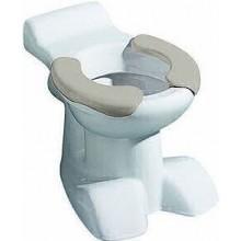 KERAMAG KIND dětský klozet 35x50cm, stojící, odpad vodorovný, s hlubokým splachováním, 6l, sedací plocha, bílá/šedá 212015000