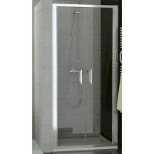 SANSWISS TOP LINE TOPP2 sprchové dveře 800x1900mm, dvoukřídlé, bílá/sklo Durlux