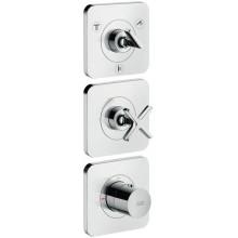 AXOR CITTERIO E termostatická sprchová baterie 120x380mm podomítková, pro 3 spotřebiče, vrchní sada, chrom