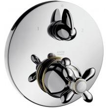 HANSGROHE AXOR CARLTON termostat podomítkový s uzavíracím a přepínacím ventilem chrom-zlato 17725090
