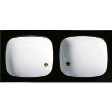 NORMA smaltovaný dřez 1004x450x195mm dvoudílný, s rámem, bílá