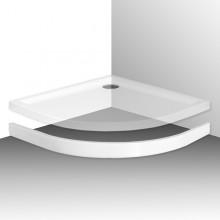 ROLTECHNIK FLAT ROUND 800 čelní panel 800mm, čtvrtkruh, krycí, akrylátový, bílá